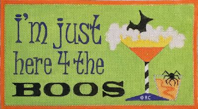 click here to view larger image of Here For The Boos (hand painted canvases)