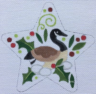 click here to view larger image of Geese Laying Eggs Star (hand painted canvases)