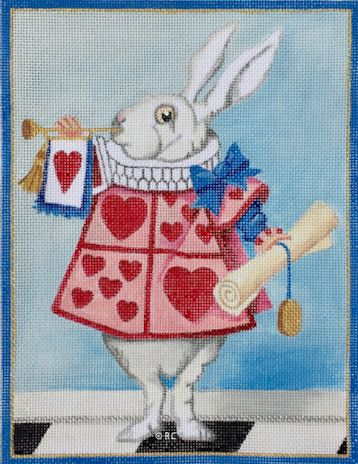click here to view larger image of White Rabbit (hand painted canvases)