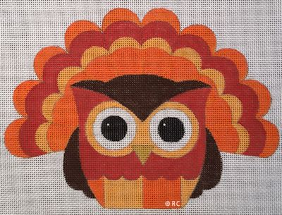 click here to view larger image of Owl Turkey (hand painted canvases)