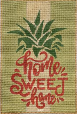 click here to view larger image of Home Sweet Home Pineapple (hand painted canvases)