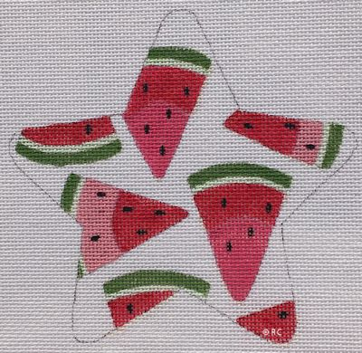 click here to view larger image of Watermelon Star (hand painted canvases)