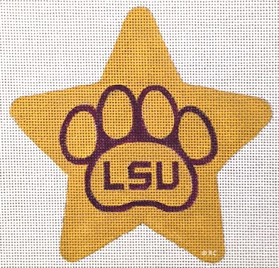 click here to view larger image of LSU Star (hand painted canvases)