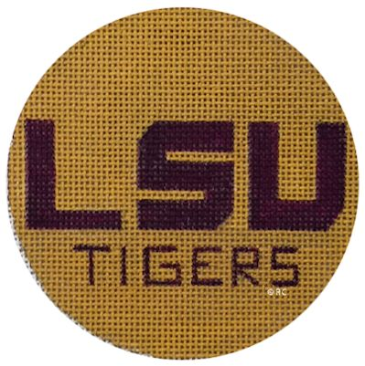 click here to view larger image of LSU Ornament (hand painted canvases)