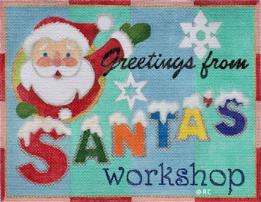click here to view larger image of Greetings From Santas Workshop (hand painted canvases)