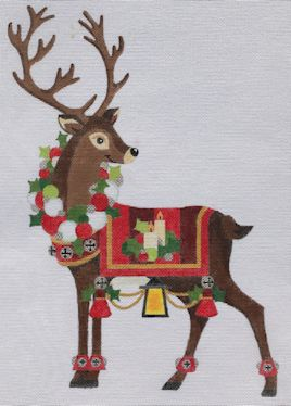 click here to view larger image of Reindeer 2 (hand painted canvases)