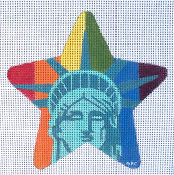 click here to view larger image of Rainbow Liberty Star (hand painted canvases)