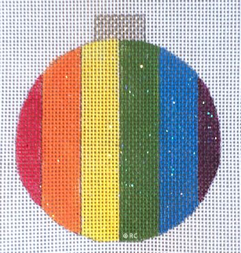 click here to view larger image of Rainbow Ornament (hand painted canvases)