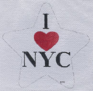 click here to view larger image of I Love NYC Star (hand painted canvases)