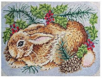 click here to view larger image of Woodland Bunny (hand painted canvases)