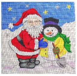 click here to view larger image of Snowman/Santa (hand painted canvases)