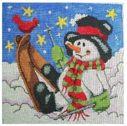click here to view larger image of Snowman Falling Down (hand painted canvases)