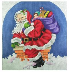 click here to view larger image of Santa On Roof (hand painted canvases)