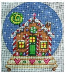 click here to view larger image of Gingerbread House Snowglobe (hand painted canvases)
