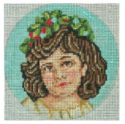 click here to view larger image of Victorian Girl 3 Ornament (hand painted canvases)
