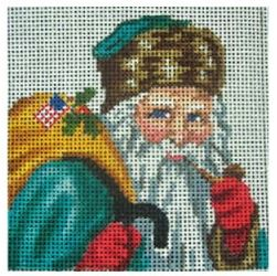 click here to view larger image of Santa With Sack Of Toys Ornament (hand painted canvases)