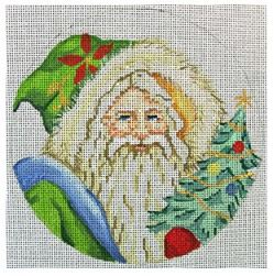 click here to view larger image of Hooded Santa With Tree Ornament (hand painted canvases)