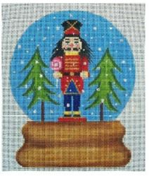 click here to view larger image of Nutcracker Snow Globe (hand painted canvases)
