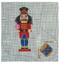 click here to view larger image of Nutcracker With Drum Mini Sock (hand painted canvases)