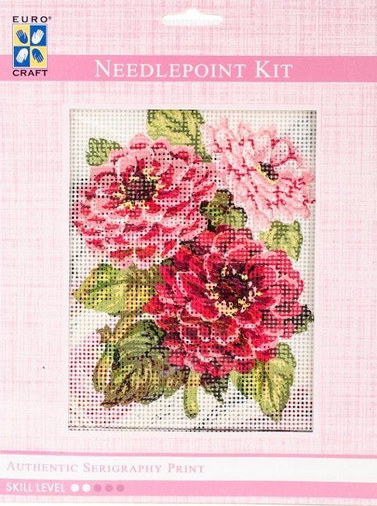 click here to view larger image of Zinnias Needlepoint Kit (needlepoint kits)