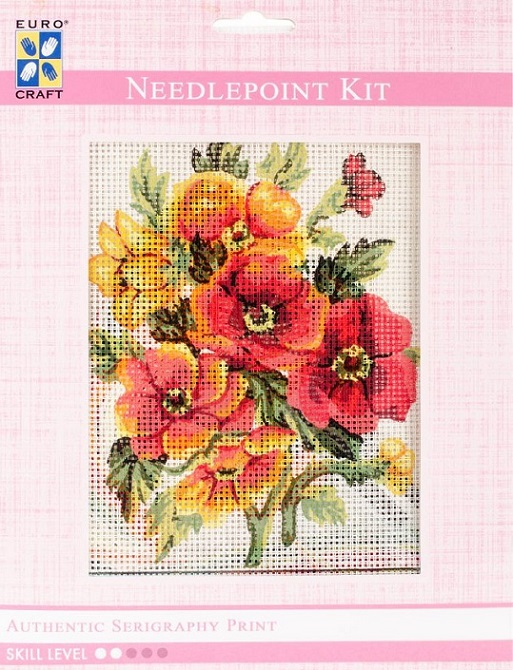 click here to view larger image of Anemones Needlepoint Kit (needlepoint kits)