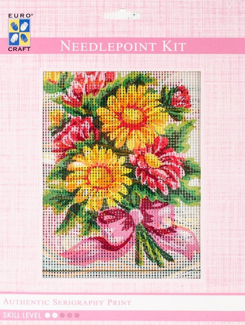 click here to view larger image of Daisy Bouquet Needlepoint Kit (needlepoint kits)