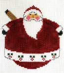 click here to view larger image of Really Poly Santa (hand painted canvases)