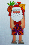 click here to view larger image of Bahama Tommy Santa (hand painted canvases)