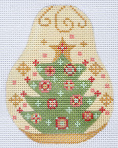 click here to view larger image of Christmas Tree Pear (hand painted canvases)