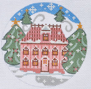 click here to view larger image of Pink House Ornament (hand painted canvases)
