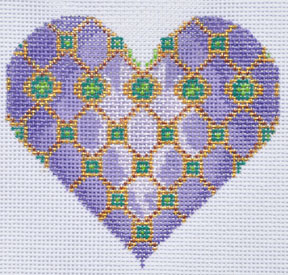 click here to view larger image of Geometric Heart (hand painted canvases)