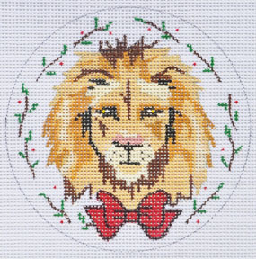 click here to view larger image of Lion Ornament (hand painted canvases)