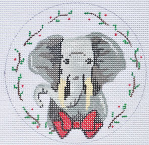 click here to view larger image of Elephant Ornament (hand painted canvases)