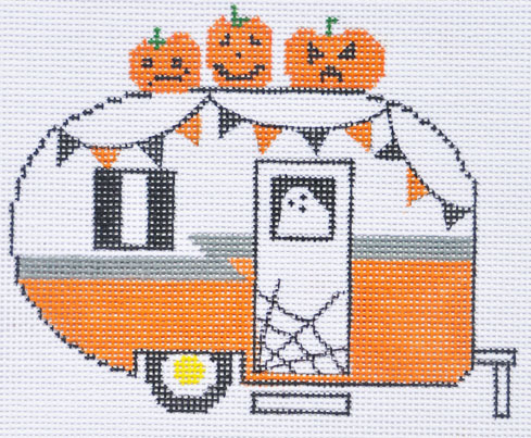click here to view larger image of Halloween Camper Van (hand painted canvases)