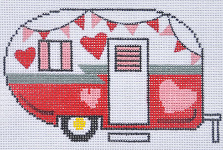 click here to view larger image of Valentine Camper Van (hand painted canvases)