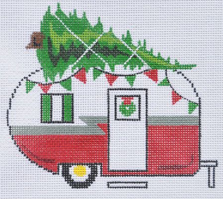 click here to view larger image of Christmas Camper Van (hand painted canvases)