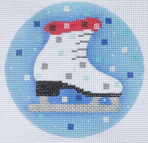 click here to view larger image of Ice Skate Ornament (hand painted canvases)