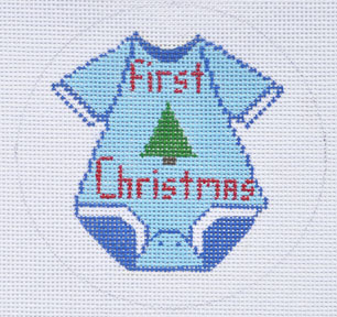 click here to view larger image of First Christmas (Boy) Ornament (hand painted canvases)