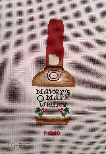 click here to view larger image of Makers Mark Ornament (hand painted canvases)