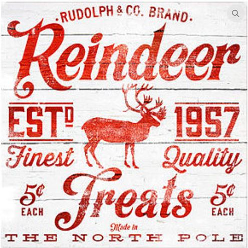 click here to view larger image of Reindeer Treats (hand painted canvases)