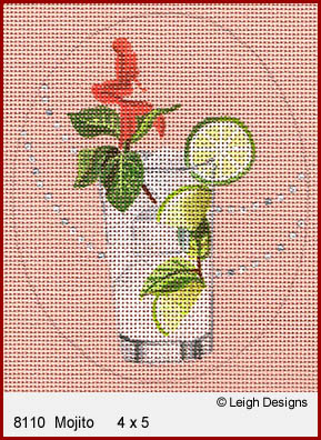 click here to view larger image of Mojito - Summer Sips (hand painted canvases)