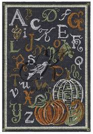 click here to view larger image of ABC Autumn Chalk Sampler (hand painted canvases)