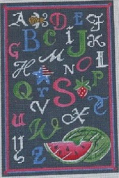 click here to view larger image of ABC Summer Chalk Sampler (hand painted canvases)
