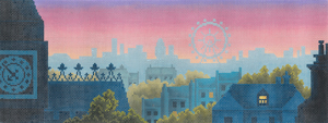 click here to view larger image of Rooftops of London (hand painted canvases)