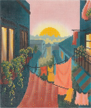 click here to view larger image of Rooftops of Italy (hand painted canvases)