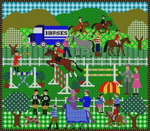 click here to view larger image of Horse Show (hand painted canvases)