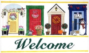 click here to view larger image of Welcome Doors - Seasons (hand painted canvases)