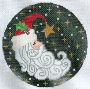 click here to view larger image of Crescent Santa (hand painted canvases)