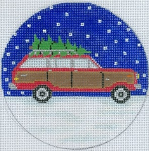 click here to view larger image of Wagoneer Christmas Ornament (hand painted canvases)