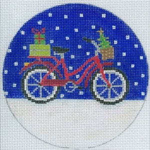 click here to view larger image of Bicycle Holiday Ornament (hand painted canvases)